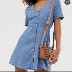 ASOS Denim Size Large/12 Tea Dress
